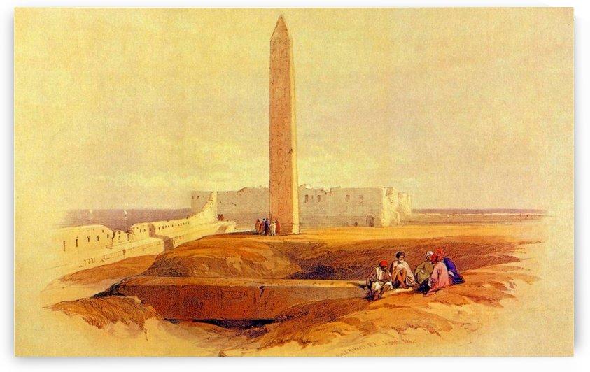 Cleopatras Needle 1838 by David Roberts