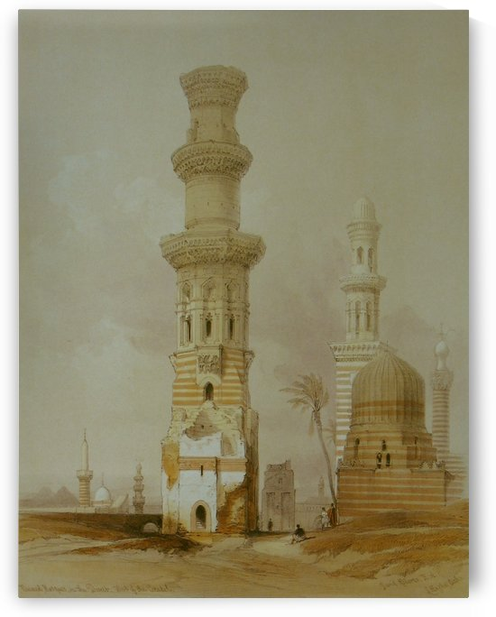 Ruined mosques by David Roberts