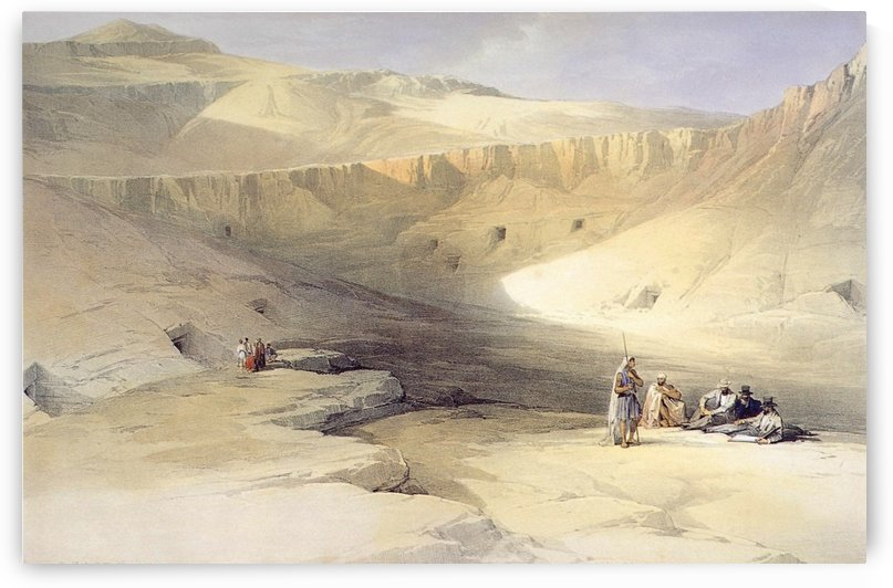 Entrance to the Valley of the Kings by David Roberts