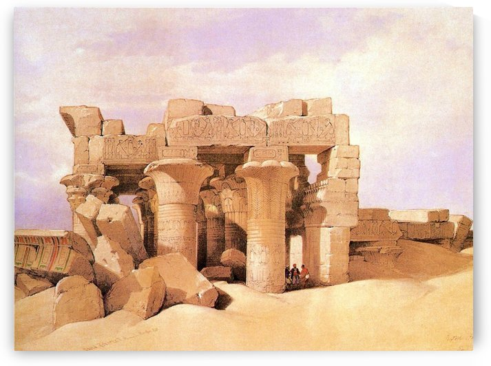 Ruined Ptolemic Temple, 1838 by David Roberts