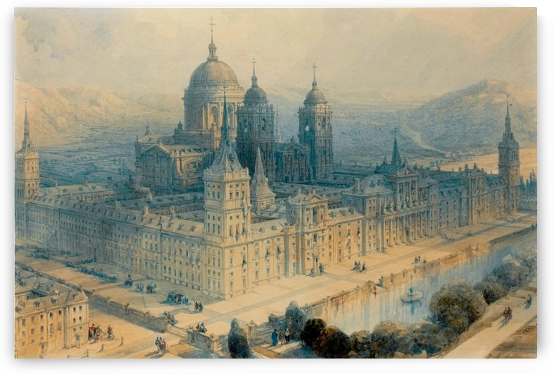 1836 The Palace of Escorial, Near Madrid, Spain by David Roberts