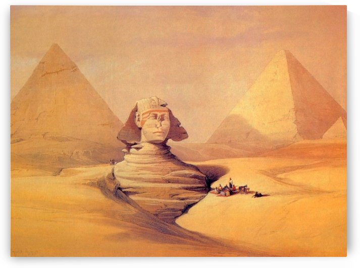 Ancient Egypt figures by David Roberts
