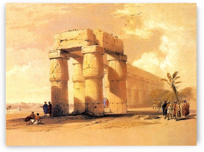 The Great Temple of Luxor, 1838 by David Roberts