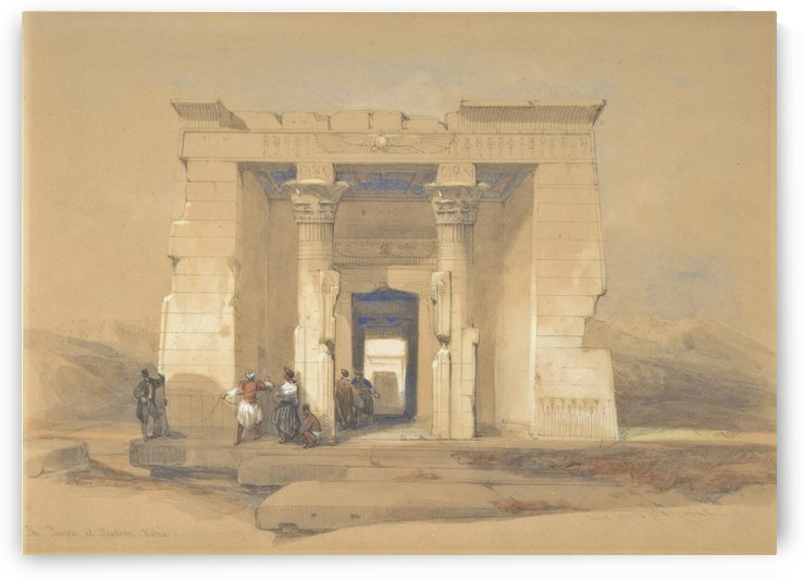 The Temple at Dendur, Nubia by David Roberts