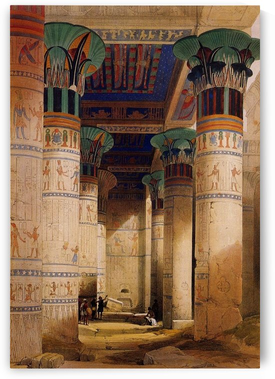 Temple of Isis on the Island of Philae, Egypt by David Roberts