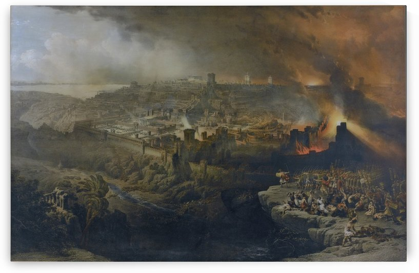 Destruction of Jerusalem by the Romans Under the Command of Titus, A.D. 70 by David Roberts