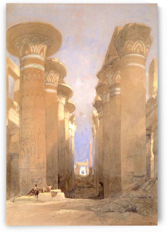 1838 The Great Hall at Karnak by David Roberts