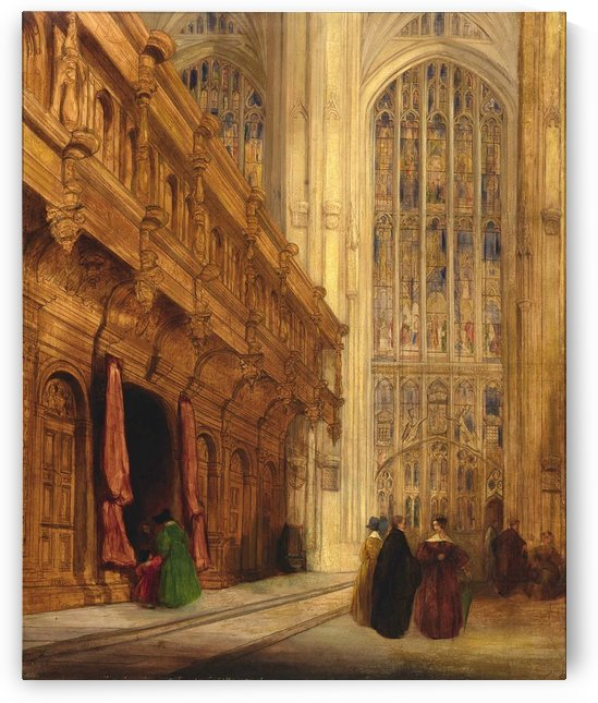 1837 King's College Chapel, Cambridge by David Roberts