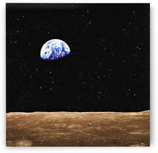 View Of Earth From The Moon's Surface by PacificStock