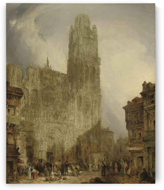 West front of Notre Dame Cathedral, Rouen by David Roberts