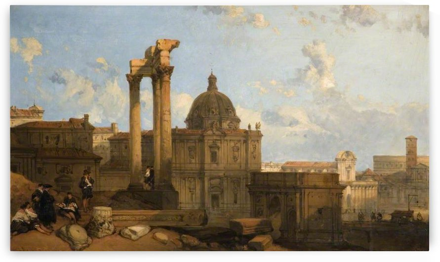 1859 Ruins of the Roman Forum by David Roberts