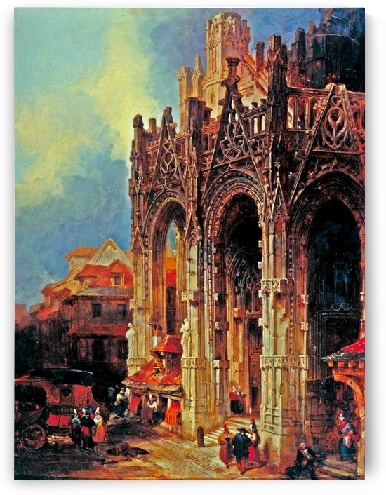 The Porch of St Maclou, Rouen by David Roberts