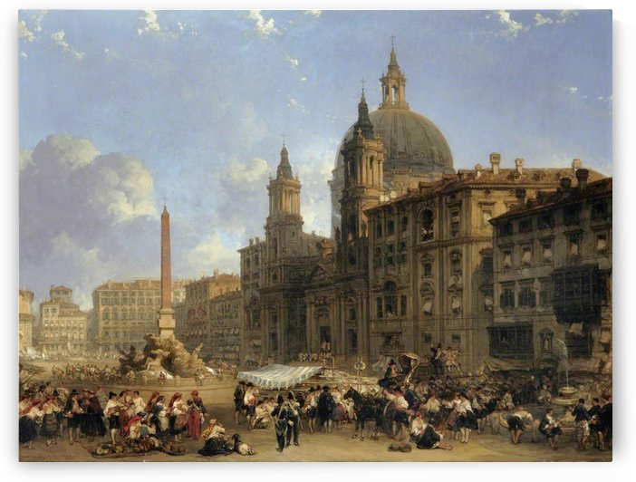 Piazza Navona at Rome by David Roberts