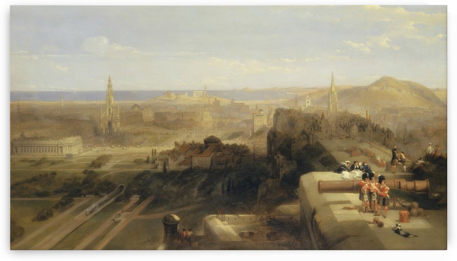 Edinburgh from the Castle by David Roberts