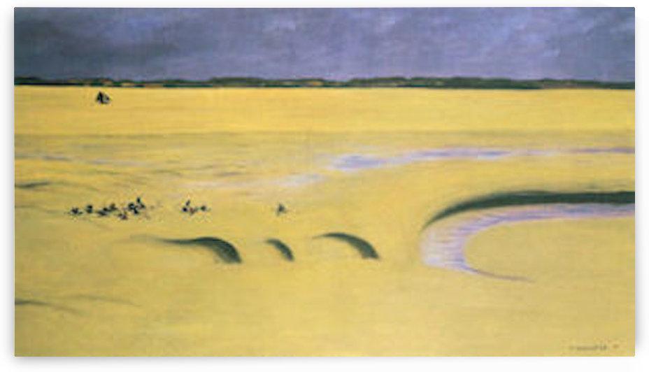 Beach at low tide by Felix Vallotton by Felix Vallotton