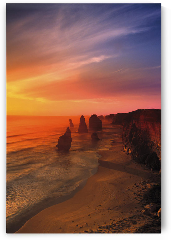 Sunset And Rock Formations by PacificStock