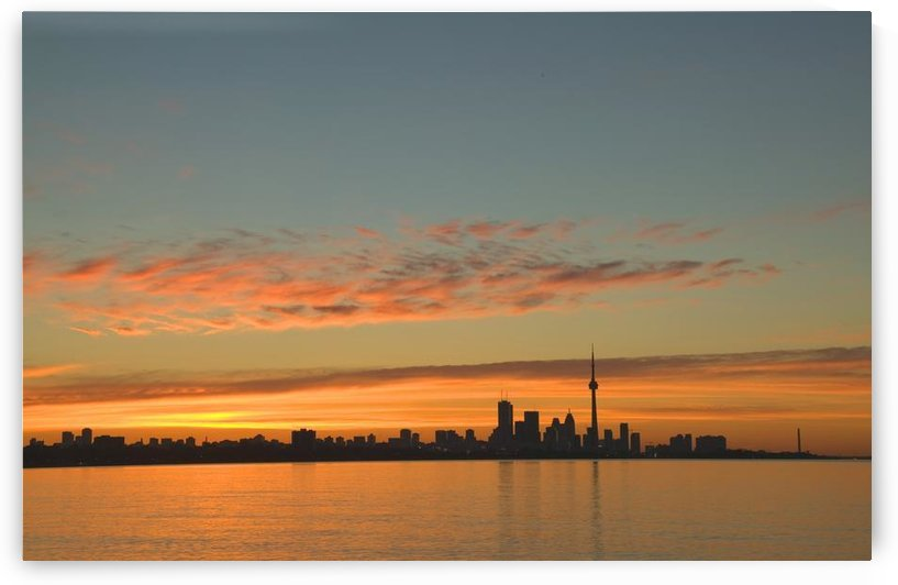 Skyline Of Toronto Against A Beautiful Sunset by PacificStock