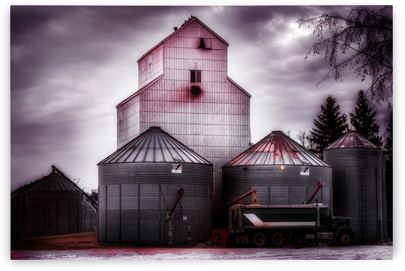 HDR two-tone Silos by Lisa Poirier