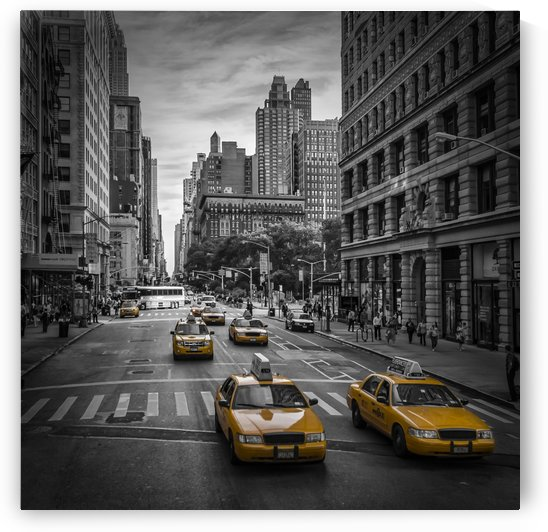 NEW YORK CITY 5th Avenue Traffic by Melanie Viola