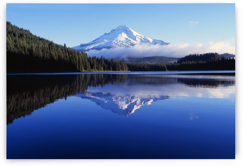 Trillium Lake With Reflection Of Mount Hood, Mount Hood National Forest by PacificStock
