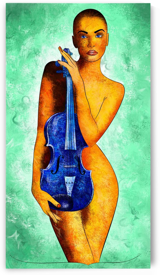 Bellaseussa - beauty with violin by Cersatti Art