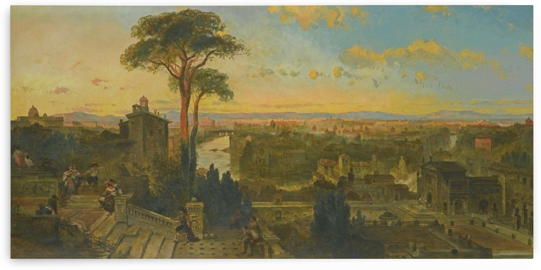 View of Rome from the Convent of San Onofrio by David Roberts