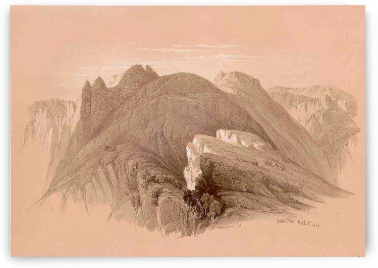 Gebil Hor, Petra by David Roberts