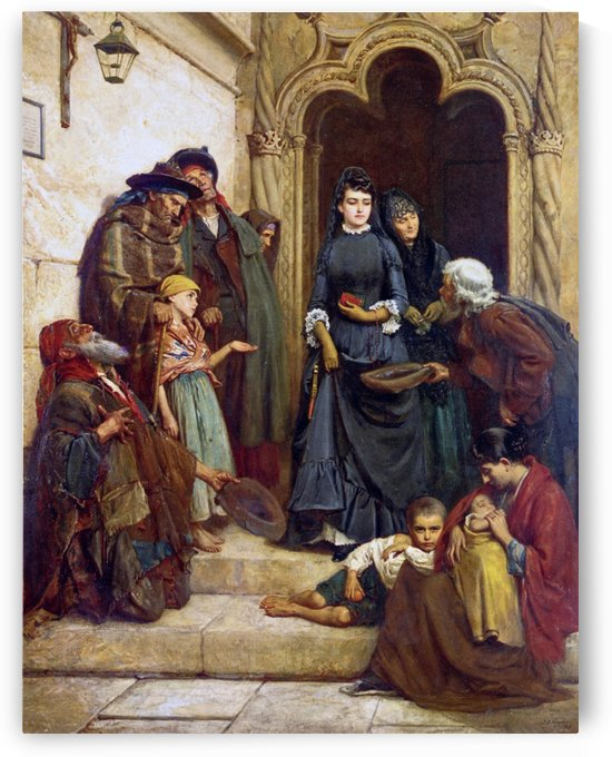The church door 1889 by John Bagnold Burgess
