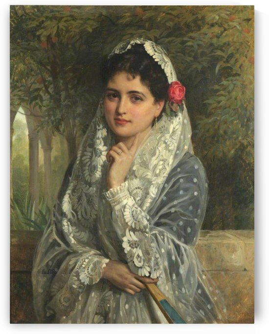 A Spanish beauty in Seville by John Bagnold Burgess