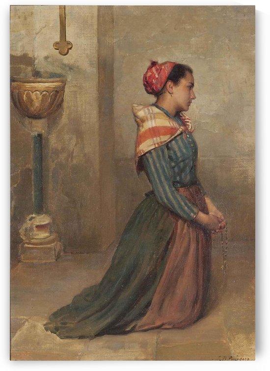 Kneeling to prayer by John Bagnold Burgess