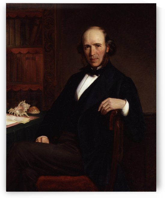 Herbert Spencer by John Bagnold Burgess