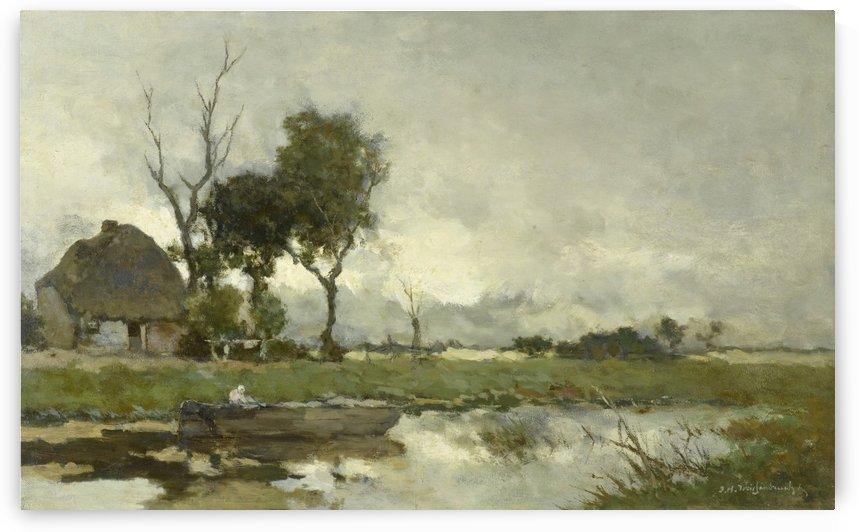 Herfstlandschap by Jan Hendrik Weissenbruch