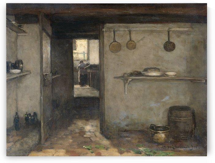 Doorkijkje in het onderhuis van Weissenbruch's woning in Den Haag by Jan Hendrik Weissenbruch