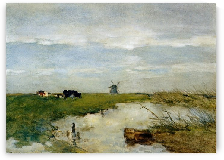 Dutch polder landscape by Jan Hendrik Weissenbruch