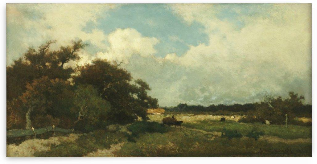 Buiig weer boven Dekkersduin by Jan Hendrik Weissenbruch