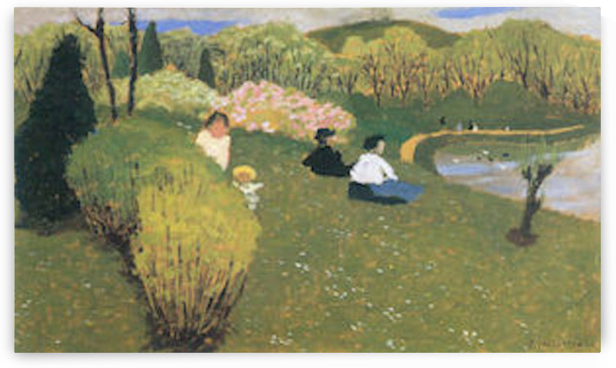 Children at a pond by Felix Vallotton by Felix Vallotton
