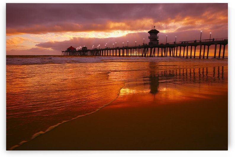 Huntington Beach At Sunset, California, Usa by PacificStock