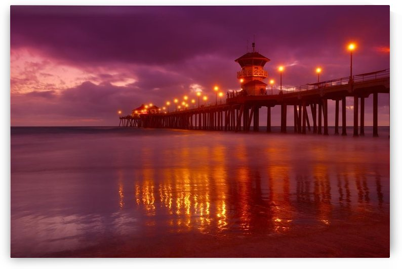 Huntington Beach At Night by PacificStock