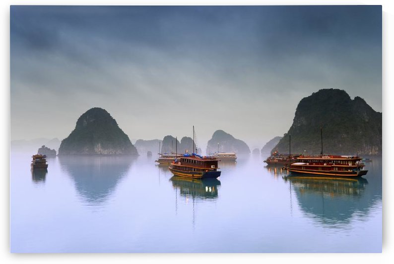 Hotel Junks, Halong Bay, Vietnam by PacificStock