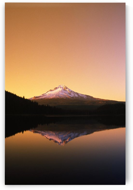 Sunset At Trillium Lake, Mt. Hood, Oregon, Usa by PacificStock