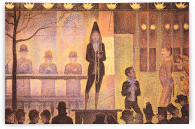 Circus parade by Seurat by Seurat