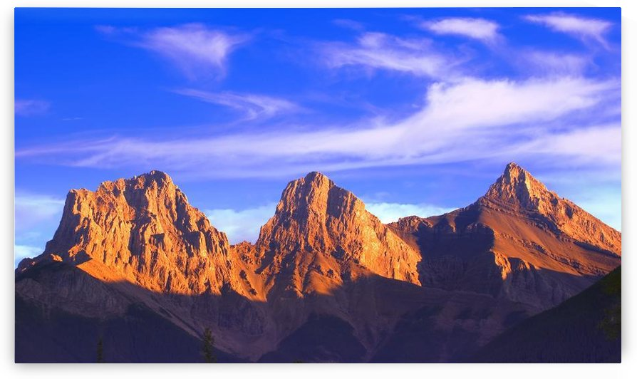 Three Sisters Mountain, Canmore, Alberta, Canada by PacificStock