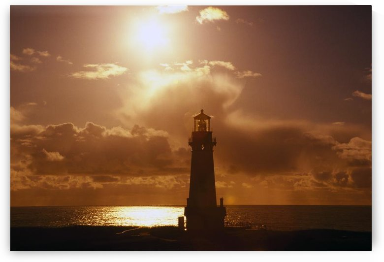 Sunset At Yaquina Head Lighthouse, Oregon, United States Of America by PacificStock