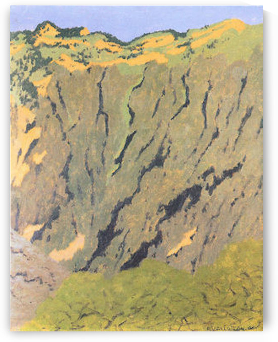 Cliffs by Felix Vallotton by Felix Vallotton