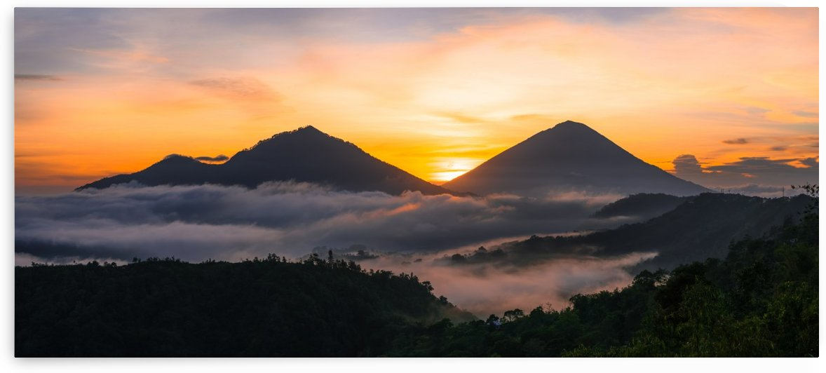 Mt Agung and Mt Abang Bali by Cullen Kamisugi