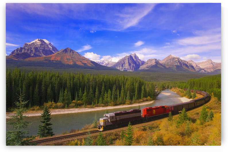 Train In Banff National Park by PacificStock