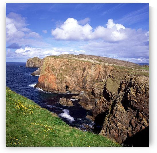 High Angle View Of Rock Formations At The Coast, Tory Island, County Donegal, Republic Of Ireland by PacificStock