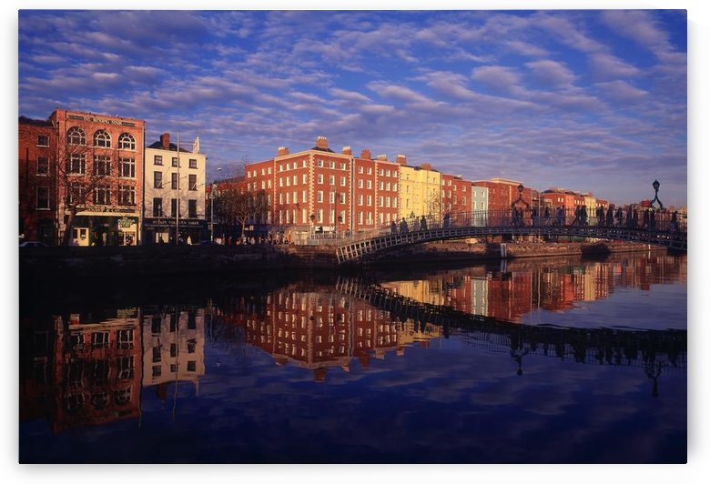River Liffey And Halfpenny, Bridge, Dublin, Ireland by PacificStock