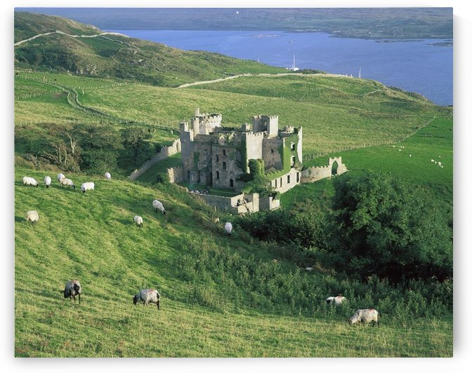 Clifden Castle, Co Galway, Ireland; 19Th Century Gothic Revival Style Castle by PacificStock
