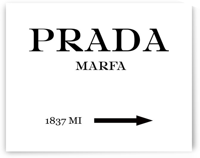 Prada Marfa Mileage landscape by Edit Voros